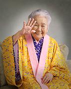 2003年九州写真師連盟主催第105回九州写真展覧会にて第3部(営業写真)-入選-10席 元気なおばあちゃん