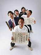 2011年九州写真師連盟主催第113回九州写真展覧会にて第3部(営業写真)-入選-6席 卒業だじぇ~!
