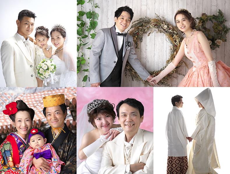 婚礼写真 琉装 ウェディングドレス 白無垢 ウェディングフォト