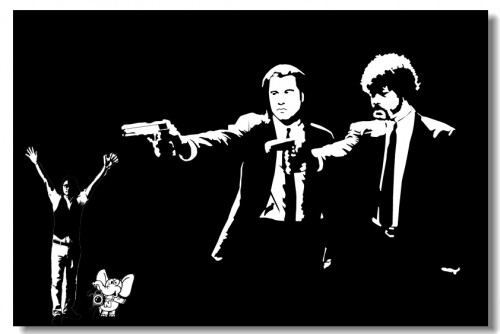 Pulp-Fiction-Movie-Silk-Wall-Poster-36x24-30x20-20x12-48x32-inch-Big-Room-Prints-Classic-Quentin